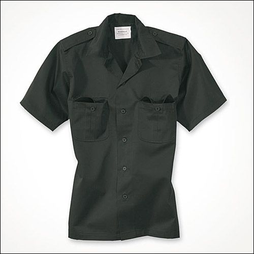 US Hemd, 1/2 Arm schwarz