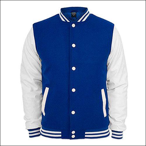 College Jacke Blau/Weiß