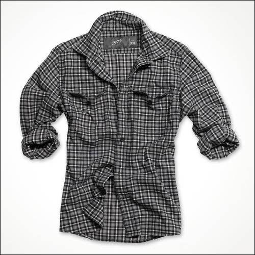 Holzfällerhemd schwarz karo