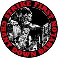 Strike First - Chant Down Babylon Button