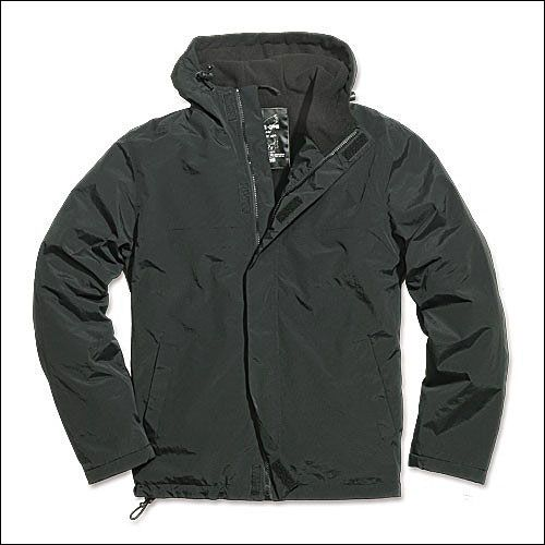Windbreaker Zipper schwarz