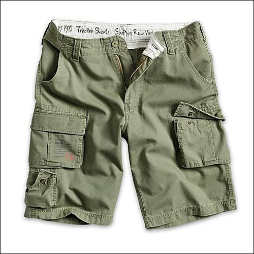 Trooper Shorts oliv