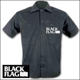 Black Flag - Logo Workershirt