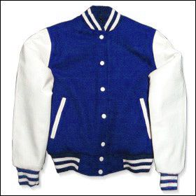 College Jacke Girls Blau/Weiß