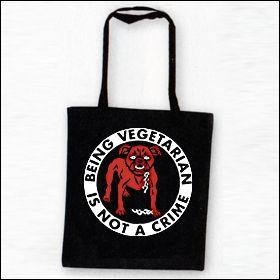 Being Vegetarian Is Not A Crime - Tasche (Henkel lang)