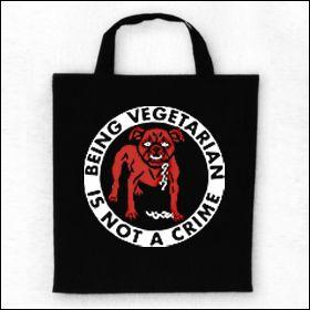 Being Vegetarian Is Not A Crime - Tasche (Henkel kurz)