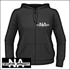 Negative Approach Logo Girlie Zipper