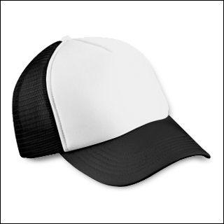Mesh Cap schwarz/weiß