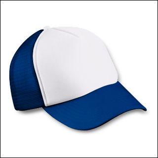 Mesh Cap blau/weiß