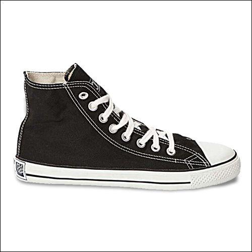 Fair Trainer Classic Hi Top Sneaker schwarz/ weiß