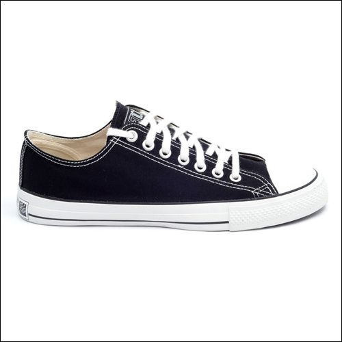 Fair Trainer Classic Low Top Sneaker schwarz/ weiß