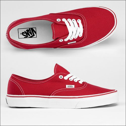 new style f599b 601b1 Vans Authentic rot