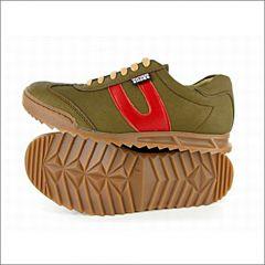 X Trainer Sneaker (Oliv/Rot)
