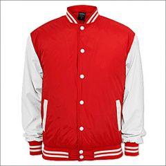 College Jacke Rot/Weiß