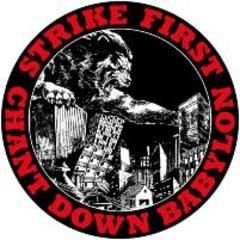 Strike First - Chant Down Babylon Button
