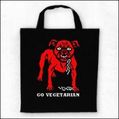 Go Vegetarian - Tasche (Henkel kurz)