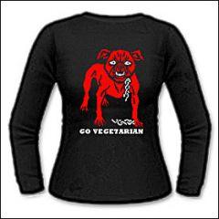 Go Vegetarian - Girlie Longsleeve