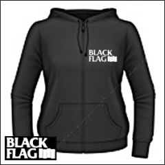 Black Flag - Logo Girlie Zipper