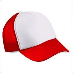 Mesh Cap rot/weiß