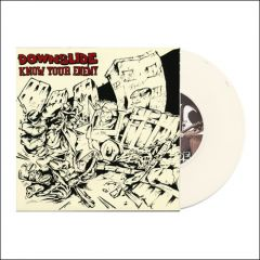 "1 7""/ 1 CD Bundle incl. Downslide/ Know Your Enemy 7"" on white"