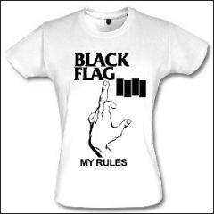 Black Flag - My Rules Girlie Shirt (reduziert)