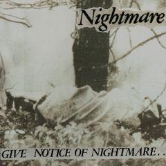 Nightmare - Give Notice Of Nightmare LP (gelbes vinyl)